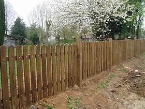 Piquet En Bois Pour Cloture : separation bois pour jardin panneau cloture pvc chromeleon ~ Farleysfitness.com Idées de Décoration