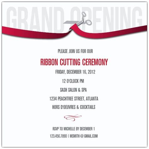 sle invitation letter to ribbon cutting ceremony 24 best grand opening invitations images on 84897