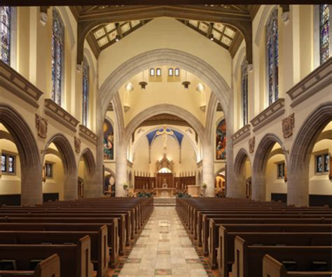 celli flynn brennan restored  historic church interior