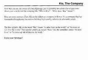 2002 Kia Sportage Owners Manual