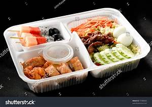 Ready To Eat Asian Rice Box Full Of Ingredients That The ...