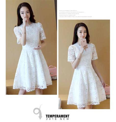 dress brokat putih cantik terbaru myrosefashioncom