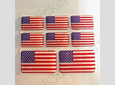 Pegatinas Estados Unidos EEUU Bandera Relieve 3D Adhesivos