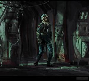 Zombie astronaut by delic on DeviantArt