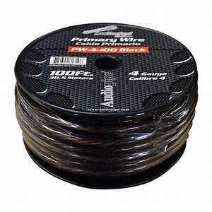 Power Wire Audiopipe 4ga 100 U0026 39  Black