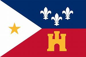 The Flag of the Acadiana is the Cajun French tri-color w
