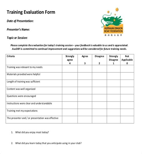 ms word training feedback survey template   survey