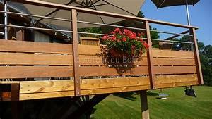 Garde De Corps Terrasse : garde corps bois et inox pour terrasse bois suspendue ~ Melissatoandfro.com Idées de Décoration