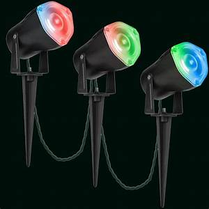 Diy Stakes For Christmas Lights Gemmy Lightshow Smart Lights Led Spot Light Set Of 3