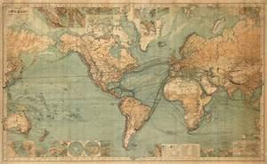 1863 World Map - Majesty Maps and Prints