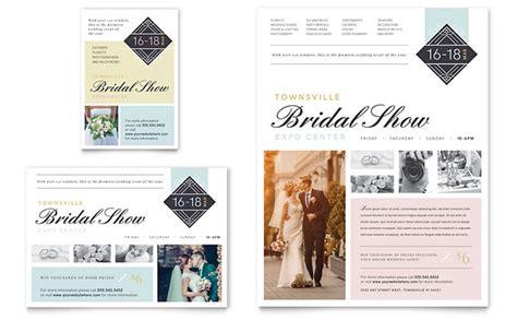 bridal show flyer ad template design