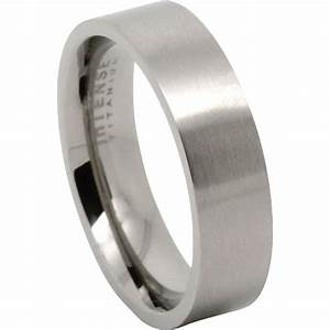 titanium satin finish mens wedding ring With titanium men wedding ring