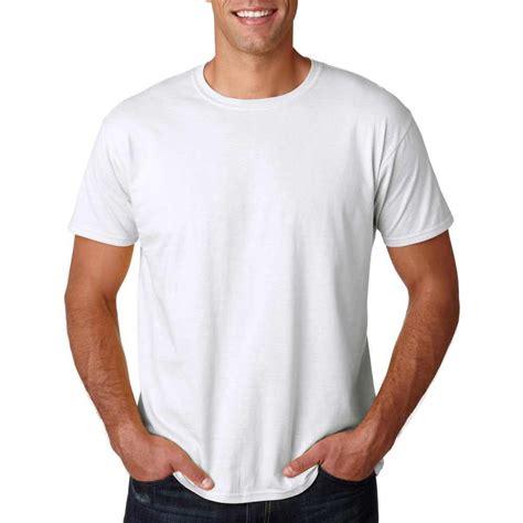 promotional white gildan softstyle t shirts with custom