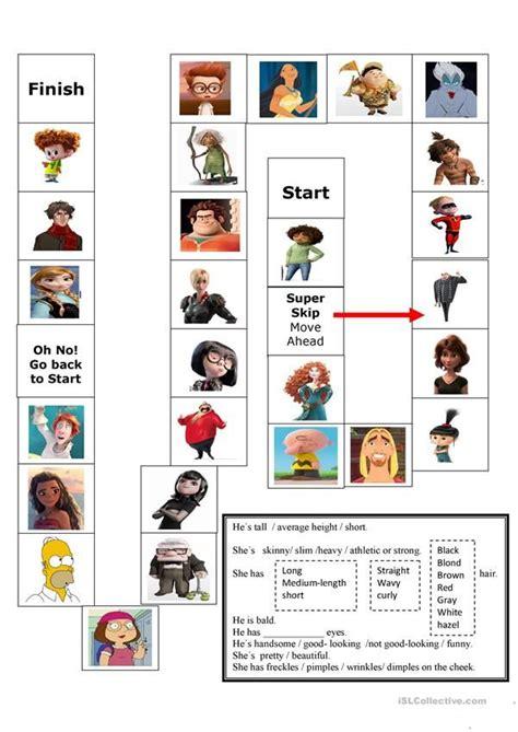 describing board game board games vocabulary games
