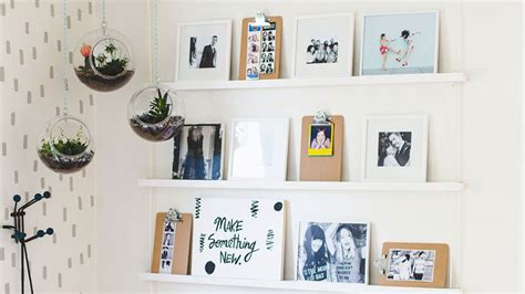 unique ways  hang pictures   wall stylecaster