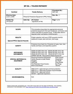 Microsoft word standard operating procedure template for Operational guidelines template