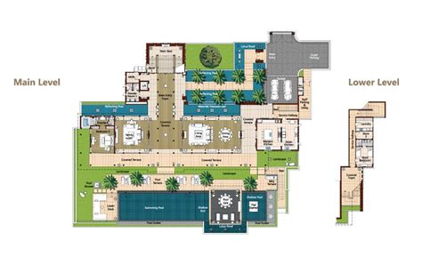 phuket luxury villa layout plans  descriptions andara