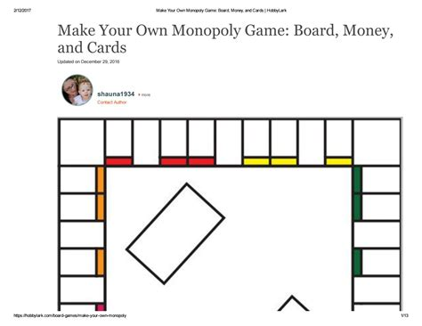 make your own cards template monopoly board money and cards by issuu