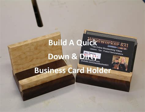 Quick Down & Dirty Business Card Holder Business Card Frame Famous Font Size Standards For English Teacher Free Design Templates Photoshop Resume Networking Musician Type