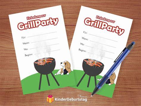 einladung zum grillen basteln vorlagen fuer beste bbq party
