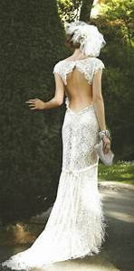 Backless dresses backless wedding gown 1931921 weddbook for Lace backless wedding dress