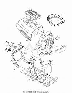 Mtd 13ax915t004  2012  Parts Diagram For Hood  U0026 Dash