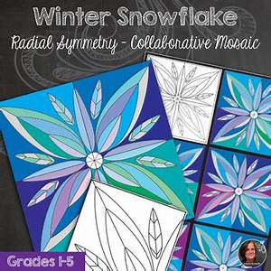 Secret Santa Templates Snowflake Winter Mosaic Radial Symmetry Mosaic Winter