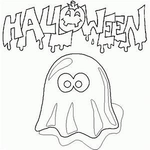 Dessin D Halloween Facile : coloriage halloween un fant me rigolo coloriages d ~ Dallasstarsshop.com Idées de Décoration