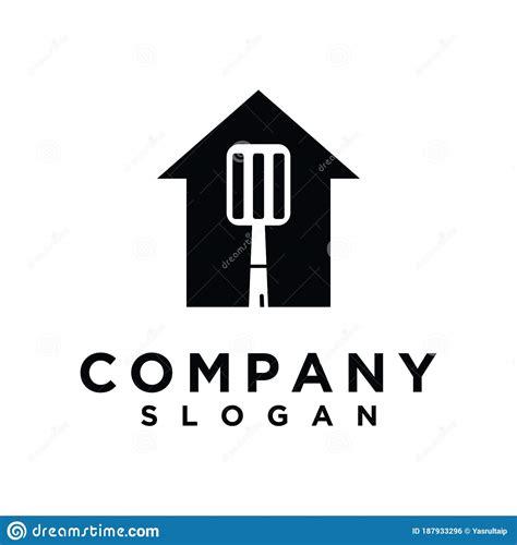 Spatula Home Vector Logo Design.grill House Fork Spatula ...
