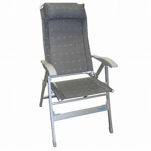 Fauteuil De Camping Pliant : fauteuil aluminium confort maxi gris midland avec dossier ~ Dailycaller-alerts.com Idées de Décoration