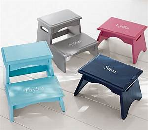 personalized step stools pottery barn kids With bathroom step stool for toddlers