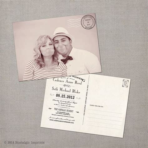 Save The Date Vintage Postcard Template 5x7 Customizable 25 Best Postcard Wedding Invitation Ideas On