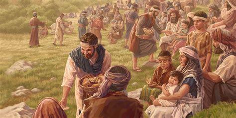 jesus alimenta  miles de personas biblioteca en linea