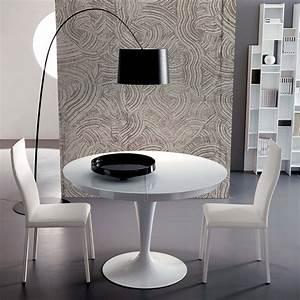 Table Ronde Extensible Blanche : cool table ronde extensible eclipse verre with table ronde extensible but ~ Teatrodelosmanantiales.com Idées de Décoration