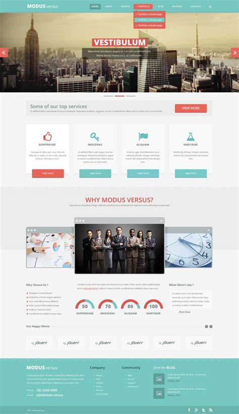 20 free high quality psd website templates projects to