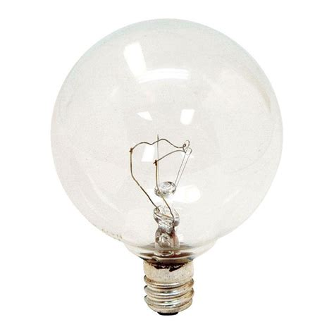 ge 40 watt incandescent g16 5 globe candelabra base clear