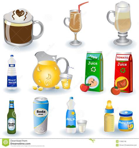 Variety Of Drinks Royalty Free Stock Photos   Image: 11965748