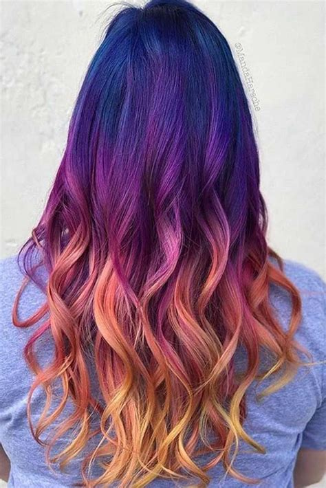 33 Cool Ideas Of Purple Ombre Hair Hair Bold Hair