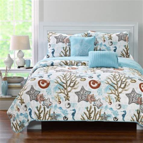 luxury home coastal 5 quilt set walmart