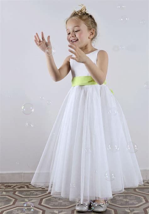 robe de demoiselle d honneur fille robe de c 233 r 233 monie fille en tulle cort 232 ge et mariage demoiselle et enfant d honneur