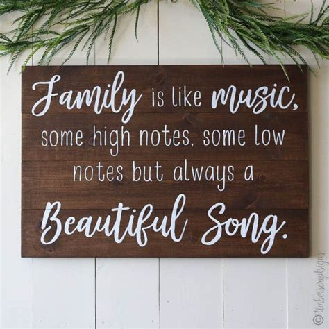 wooden sign  quote family    timberscript