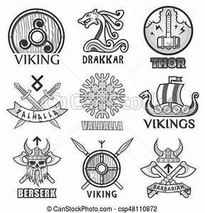 Symbole Mythologie Nordique : casque viking ancien ic nes guerriers bras scandinave illustration vecteurs ~ Melissatoandfro.com Idées de Décoration
