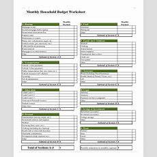 Household Budget Template 12+ Free Sample, Example, Format  Free & Premium Templates
