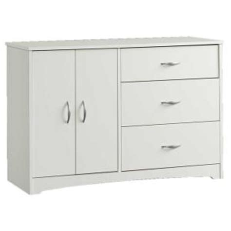Sauder Beginnings Dresser White by Sauder Beginnings Collection 3 Drawer Dresser In Soft