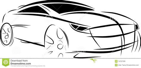 vector car sketch stock vector illustration  drawing