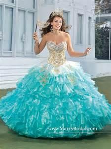New Stylish 2015 Vestido De Aqua Peach Quinceanera Dresses Ruffled Organza Beads 15 Years Debutante Birthday Party Ball Gowns