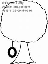 Coloring Tire Swing Tree Clipart Clip Shade Pages Illustration sketch template