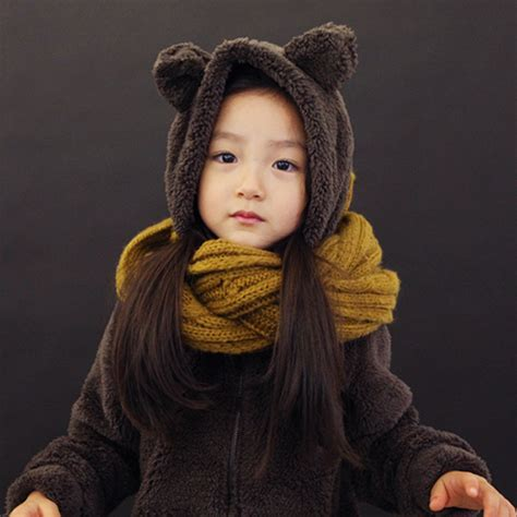 jany childrens furry bear hoodie kstylick
