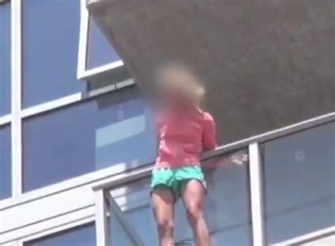 Comic Con Stuntmen Rescue Woman Dangling From Balcony In
