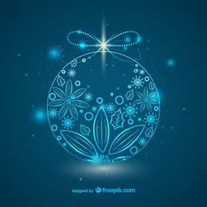Boule De Noel Bleu : bleu ornement boule de no l t l charger des vecteurs gratuitement ~ Teatrodelosmanantiales.com Idées de Décoration